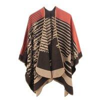 Women's Jackets Winter Oversized Blanket Cape 7 Colors Retro National Style Women Woman's Female Warm Wraps Shawl Cardigans
