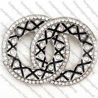 Meilleure qualité Femmes Designer Broche Mode Designer Bijoux Cristal Broche Pins Alliage Broche Vêtements Broches de luxe