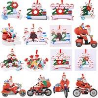 96 Arten 2021 Weihnachtsdekorationen DIY Name Segen Maske Personalisierte Harz Schneemann Weihnachtsdekor Hängende Anhänger