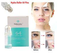 Hydra Needle Roller 64 Pins Guldmikronedle Dermaroller Stämpel med gelrör 10 ml Hudvård föryngring Anti Acne Spots Freckle