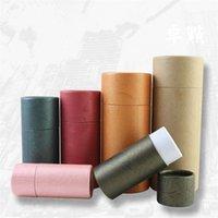 50 pcs 10-100ml Garrafa de óleo Kraft papel de embalagem caixa de embalagem caixa de embalagem caixa conta-gotas de gotas de papelão de papelão redondo para festival 114 v2