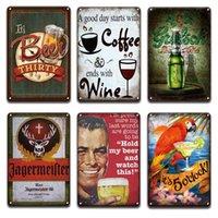 Jagermeister Beer Metal Tin Signes Vintage Cuisine Maison Décor Shabby Chic Coffee Menu Affiche Tiki Bar Restaurant Metal Wall signes Q0723