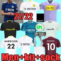 Homens Tops 20 21 22 LEEDS Futebol Jerseys United Player Fãs Versão 2021 2022 Harrison Hernandez Costa Bamford Alioski Clarke Camisa de Futebol Femininos Adulto + Kids Set