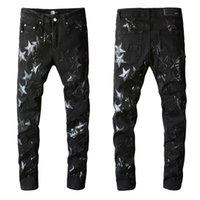 2021 Amiry Nouveaux Designers de luxe pour hommes Denim Jeans Trous Pantalons Pantalon Biker # 691