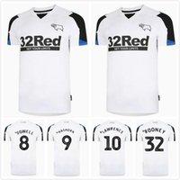 21 22 Derby County Club Soccer Jerseys 2021 2022 Home Wisdom Waghorn Martin Hamer Rooney Football Shirt Uniforme