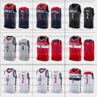 2021 Nuova Jersey di pallacanestro 2 Ball Russell 4 Westbrook Uomo Donna Gioventù bianco nero rosso