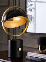 Lampes de table nordique hémisphère cylindrique rotative chambre de chevet luxe post moderne designer moderne salon décor lumières