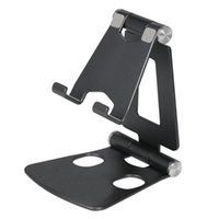 Cell Phone Mounts & Holders Z20 Adjustable Stand Fully Foldable Desktop Holder Aluminum Alloy 270°Rotatable Cradle Portable Dock For Tablet