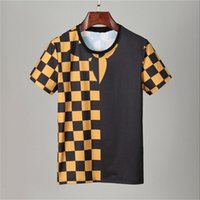 2021 Casual Brand Lettera maschile Stampa Hip Hop Tops Streetwear Tee Shirts per Summer Men Pullover T-shirt manica corta in cotone manica corta # 6801 T-shirt