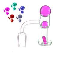 20mm Bucket Quartz Terp Vacuum Bangers Domeless TerpSlurper Up Oil Banger Nail with Smoking Ruby Pill for Glass Bong Rigs