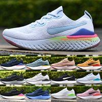Nike Epic React Flyknit 3 Laufschuhe 2020 Designer Herren Damen Turnschuhe Mesh Platinum Tint Schwarz Pink Blast Hellblau Sportschuhe Größe 36-45