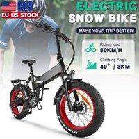 Electric Fat Bike 48V 750W Bafang Motor Mens Mountain Bicycle Folding 20 Inch Snow Beach Ebike 17.5Ah Lithium Hidden Battery