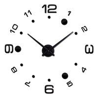 Relojes de pared 3D DIY Reloj Reloj Sala de estar Cuarzo Acrílico Espejo Efecto Decoración del hogar Moderno Sticks Style Style Style