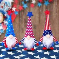 4 июля Dwarf Кукла Американская независимость День Патриотический гноми Звезды и полосы ручной работы Скандинавская кукла Детские подарки Домашний декор