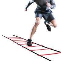 Outdoor Fitness Equipment Fast Delivery 5M 10Rung Nylon Straps Training Stairs Agility Ladders Soccer Football Tab Speed Ladder Sports