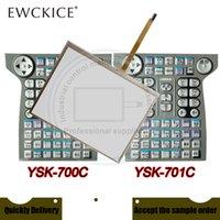 Orijinal Yeni JZRCR-YPP21-1 DX200 YSK-700C YSK-701C PLC HMI Endüstriyel Dokunmatik Ekran ve Ön Etiket Filmi