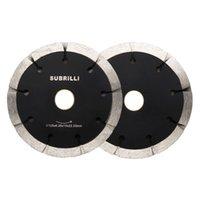 5 125mm Diamante Sega lama Dual Tuck Point Taglio del disco da taglio bagnato Dry Sandwich Sandwich Circular Ruota Calcestruzzo Chaser a muro di mattoni 1 PZ