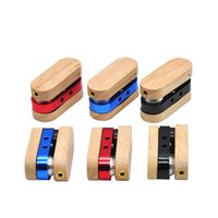 Folding Wooden Tobacco Pipe Foldable Wood Smoking Pipes Similar Portable Vaporize FHL449-WLL