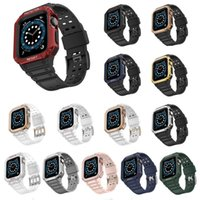 for Apple Watch Series 7 6 5 4 3 2 1 SE Tough Armor Protective Case Band Strap Bracelet Cover