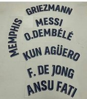 2021-2022 away F.DE JONG GRIEZMANN MESSI O.DEMBELE MEMPHIS ANSU FATI KUN AGUERO nameset patch badge