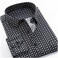 Большой размер 8xL 9xL 10XL Vrokino марка 2021 старинные цветочные печать с длинными рукавами мужские деловые повседневные платья мода классическая рубашка 210305