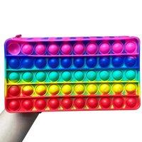 Fidget Toy Pencil Case Push Bubble Pendant Handbag Adult Decompression Toys Children Anti-Stress Purses Bags