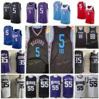 City Earned Edition DeAaron 5 Fox Basketball Jerseys 88 Queta Marvin 35 Bagley III Chris 4 Webber Jason 55 Williams Men Stitched Size S-3XL