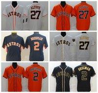 """야구 유니폼 27 Jose Altuve 2 Alex Bregman 2021 남성 여성 청소년 휴스턴 """"Astros""""저지 사이즈 S-4XL 729"""