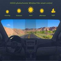 HOHOFILM 45%-75%VLT Window Tint Smart Photochromic Film Window Film Heat Proof Solar Tint 152cmx50cm 210317