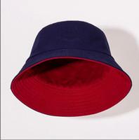 Dört Mevsim Çift Taraflı Giyilebilir Balıkçı Şapka Moda Erkek Bayan Eğilim Kova Şapka Çift Mektup Şapka En Kaliteli Aksesuarları Kaynağı