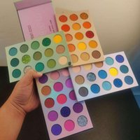 Eye Shadow Brand Arrival 4 In 1 Color Board Eyeshadow Palette 60 Colors Neon Yellow Pigment Matte Glitter Highlighter