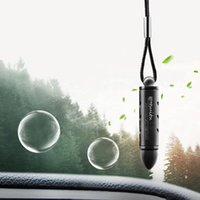 Car Air Freshener Hanging Pendant Alloy Solid Perfume Purifier Automobiles Rearview Mirror Suspension Cleaner
