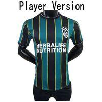 2021 Лос-Анджелес Galaxy Player Версия футбола Джерси 2021/22 # 10 Pavon J.dos Santos Uned Mens # 14 Chicharito Loltget Футбольная рубашка