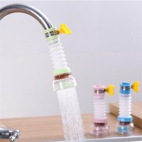Faucet splash proof head kitchen water purification filter retractable rotary water-saving shower with Maifan stone