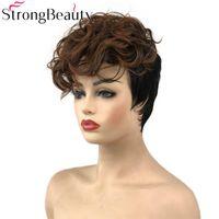 Синтетические парики Системы Женщины Короткие Корокие Форс Браканые волосы