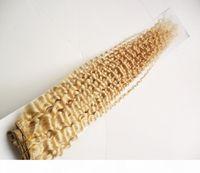 Paquetes de tejido de pelo rizado rizado Mongoliano 100 g 1 pieza 100% Remy Hair Hair Extension 613 Blonde Hair Weave Bundles