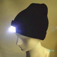 LED Light Hat Portable Голова освещение лампы Gorro Beaнки ночной рыбалка охота на лагерь бегущий освещение колпачки вязание шерстяных шляп 02k6 #