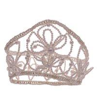 Hair Clips & Barrettes Bridal Crown Headwear Set With Earrings Luxury Handmade Beaded Accessories For Female Wedding Birthday@88