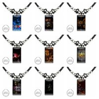 Pendant Necklaces Crazy Five Nights With Freddie Glass Galaxy Black Hematite Necklace Women Steel Plated Jewelry For