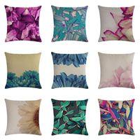 Cushion Decorative Pillow Fashion Fresh And Simple Floral Linen Throw Pillowcase Seat Car Home Decoration Sofa Bed 45x45cm