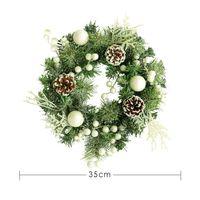 Рождественские благодарения, флокинг сосновые шишки Гинкго декоративный венок праздник дома окно венок дверь висит Рождество, чем Jllzal