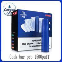 Geek Bar Pro Disposable Vape Pen E-cigarettes 1500Puffs 8Colors 4.5ml Pods 850mah Battery VS Puff Plus Bang XXL Xtra Hyppe Flow FlumFloat