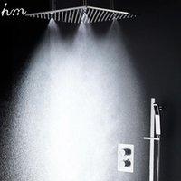 HM Badezimmer Dusche Set mit 3 Wegen SUS304 Seitige Stahl 20 Zoll Regen Nebel Slide Bar Sput Handheld Bad Dusche Wasserhähne