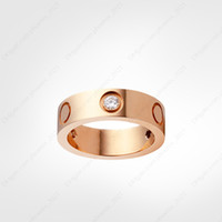 Amore anello a vite anelli da uomo anelli 3 diamanti 2021 designer gioielli di lusso donne in lega di titanio in lega d'acciaio placcato oro argento oro rosa non dissolvenza mai dissolta non allergica