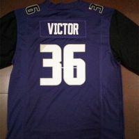 Männer # 36 Azeem Billig Victor Black White Oder Lila Washington Huskies Alumni College Jersey oder benutzerdefinierte Namensname oder Nummer Jersey NCAA