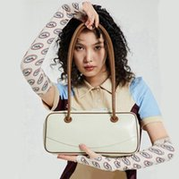 Evening Bags Casual Women's Bag With Long Handles Leather White 2021 Handbags Underarm Cambridge Tote