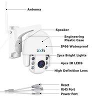 ZOOHI Kablosuz Kamera Açık PTZ IP Kamera İki Yönlü Ses 1080 P Dönebilen Dome Survellance Güvenlik Kameraları CCTV WIFI 2MP