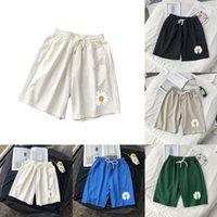 2020 hombres impresos nuevos pantalones cortos de playa ropa callejera casual Aweatpants masculino colorido coreano rodilla longitud pantalones cortos verano M-3XL L0221