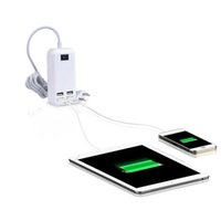 4USB Ports Phone Charger Hub 25W 5A Desktop EU / US / UK Plug Plug Socket Parete Ricarica Prese Adattatore di potenza per iPhone