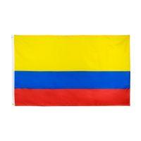 كولومبيا العلم كبير 3x5 قدم القدم الأعلام الوطنية الكولومبية راية 90 * 150 سنتيمتر البوليستر مع النحاس الحلقات المنزل حديقة جدار ديكور